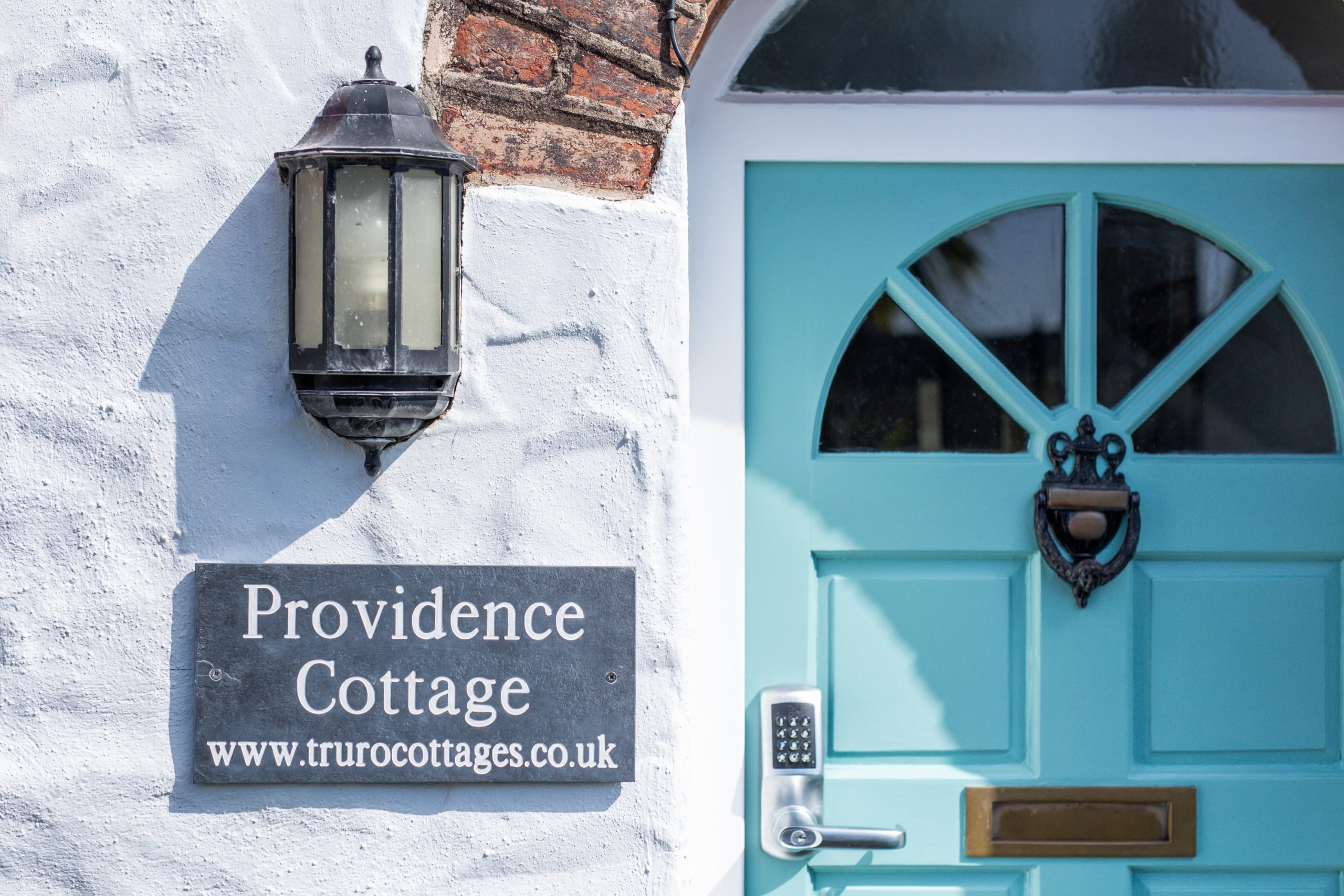 Providence Cottage Slate sign & front door